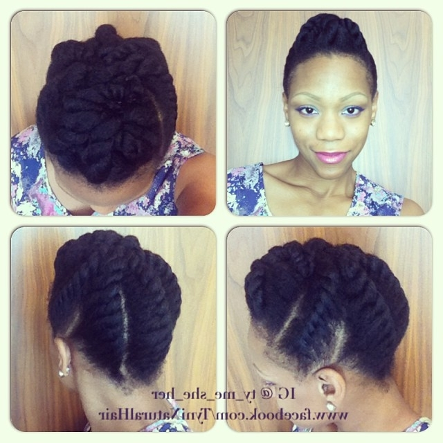 Chunky Flat Twist Updo For Neck Length Or Longer | Natural Hair Rules!!! Inside 2018 Jumbo Twist Updo Hairstyles (View 14 of 15)