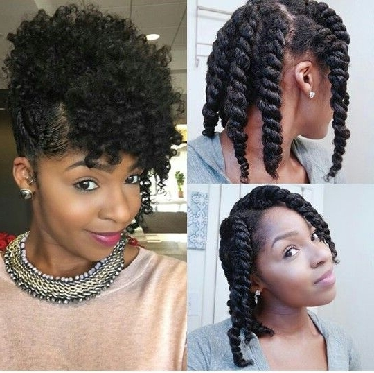 Chunky Twist Updo | Hair How Tos | Pinterest | Updo, Natural And In Most Current Chunky Twist Updo Hairstyles (View 2 of 15)