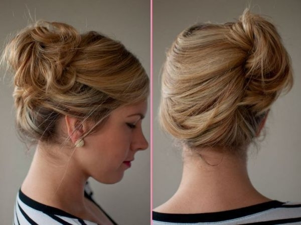 Classic French Twist Updo Hairstyles 2017 #hairstyles #shorthair In Most Up To Date French Twist Updo Hairstyles For Short Hair (View 2 of 15)