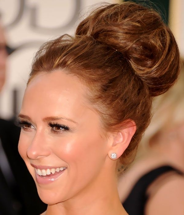 Classic High Bun Updos Hairstyles | Updos For Medium Length Hair Throughout Most Up To Date High Updo Hairstyles For Medium Hair (View 6 of 15)