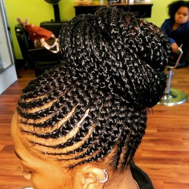 Classy Braided Updo | Hair | Pinterest | Updo, Easy Hair Braids And With 2018 Elegant Cornrow Updo Hairstyles (View 9 of 15)