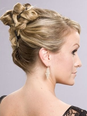 Coiffure Mariage Chignon Haut Tressé | Coiffures | Pinterest Regarding Most Recently Mother Of The Bride Updo Hairstyles For Weddings (View 6 of 15)