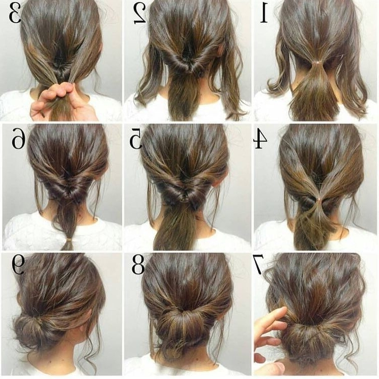 Consulta Esta Foto De Instagram De @chicwish • 3,299 Me Gusta Within Most Up To Date Quick Easy Updo Hairstyles For Short Hair (View 7 of 15)