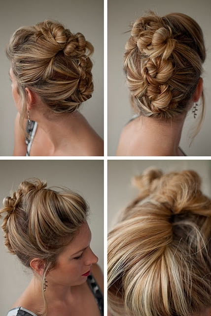 Cool Casual Bun Updo – Bun Mohawk – Hairstyles Weekly Inside Most Recently Cool Updo Hairstyles (View 6 of 15)