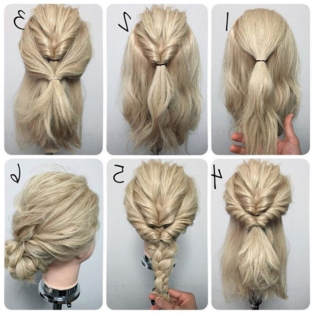 Explore Gallery Of Easy Updo Hairstyles For Long Thick Hair Showing