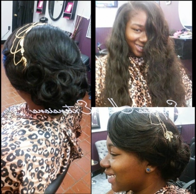 Cool Sew In Updo Hairstyles With Regard To Latest Sew In Updo Hairstyles (View 5 of 15)