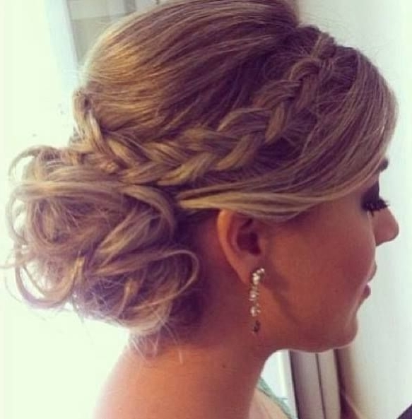 Cool Stylish Updo Hairstyle For Medium & Long Hair – Prom Hairstyles For Most Popular Pretty Updo Hairstyles For Long Hair (View 6 of 15)
