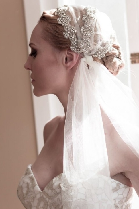 Cool Updo Hairstyles With Veil With Regard To Current Wedding Updo Hairstyles With Veil (View 10 of 15)