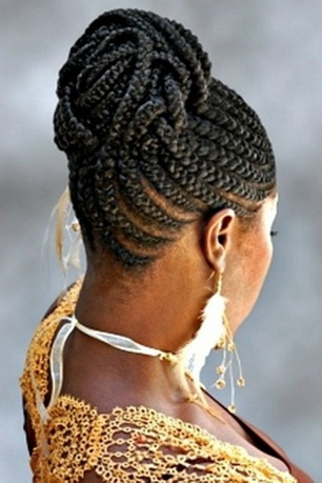 Cornrow Hairstyles For Black Women African Cornrow Braided Bun In Most Recent African Braids Updo Hairstyles (View 10 of 15)
