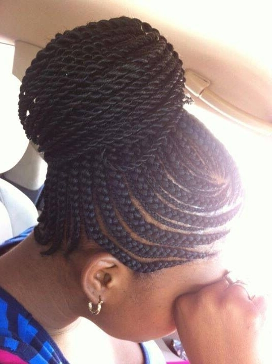 Cornrows With Weave Hairstyles – Best Hairstyles Inspirational Ideas Inside Most Recently Cornrow Updo Ponytail Hairstyles (View 6 of 15)