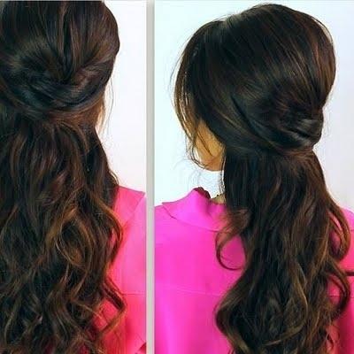 Crisscross Half Updo |Long Hair Tutorialtina L | Preen Inside Recent Half Updos For Long Hair (View 8 of 15)