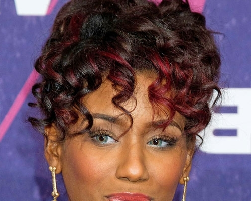 Curl Highlight | Medium Hair Styles Ideas – 45882 For Most Popular Curly Updos For Black Hair (View 9 of 15)