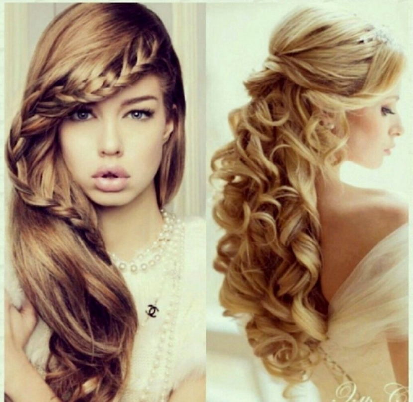 Curly Hair Updo Hairstyles Prom Hairstyles For Curly Hair | Latest For Most Popular Long Curly Hair Updo Hairstyles (View 15 of 15)