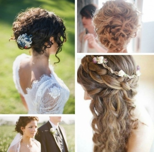 Curly Hair Updos For Wedding – Short Curly Hair Throughout Newest With Recent Naturally Curly Hair Updo Hairstyles (View 8 of 15)