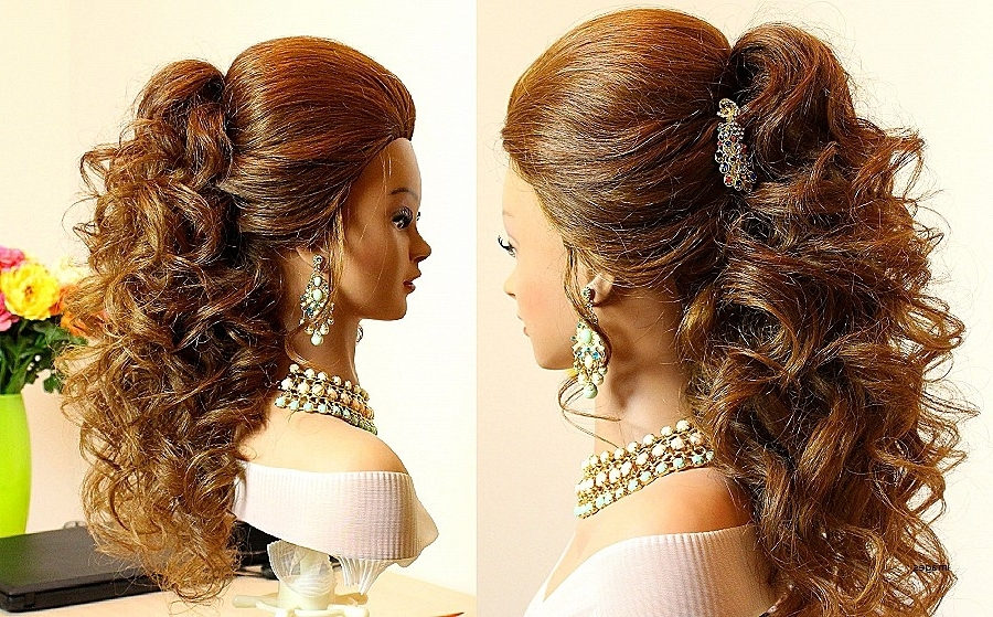 Curly Hairstyles: Best Of Prom Hairstyles For Natural Curly Ha Within Most Popular Natural Curly Hair Updo Hairstyles (View 6 of 15)