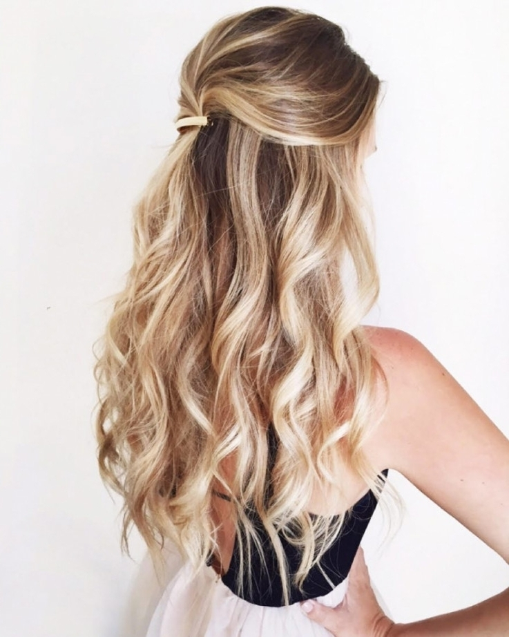 Curly Half Updo Hairstyles 1000 Ideas About Half Up Half Down On Throughout Current Half Curly Updo Hairstyles (View 8 of 15)