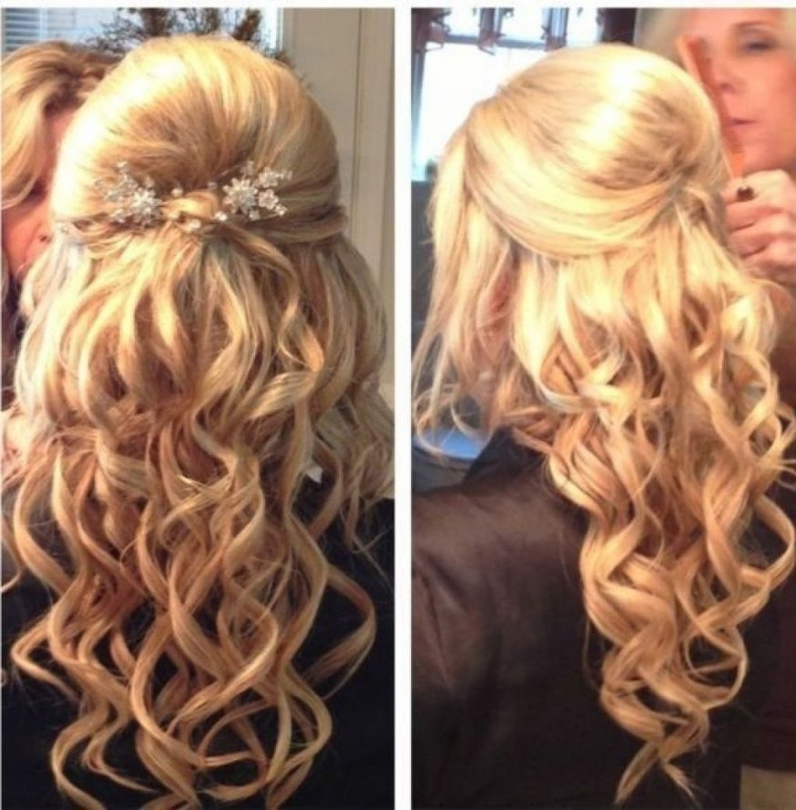 Curly Half Updo Medium Length Hairstyles Updos For Medium Hair Throughout Current Curly Half Updo Hairstyles (View 15 of 15)