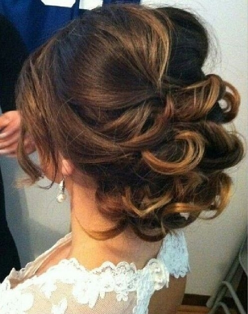 Curly Low Updo Wedding – Google Search | Wedding | Pinterest | Low In Current Curly Bun Updo Hairstyles (View 4 of 15)