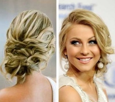 Curly Prom Updos For Medium Hair Archives – My Salon In Current Curly Updos For Medium Hair (View 5 of 15)