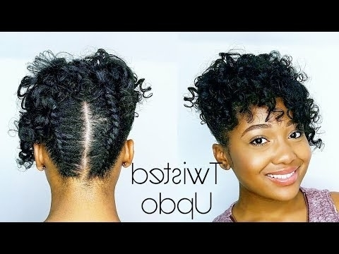 Curly Twisted Pin Updo | Relaxed Hair Tutorial – Youtube Throughout Most Popular Updo Hairstyles For Permed Hair (View 3 of 15)