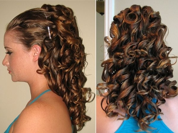 Curly Updo Awesome Wedding Hairstyles For Medium Hair | Hairstyle Intended For 2018 Curly Updo Hairstyles For Medium Hair (View 3 of 15)
