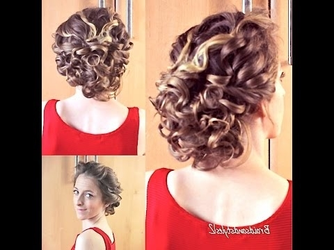 Curly Updo Hair Tutorial | Braidsandstyles12 – Youtube Throughout Latest Hair Updos For Curly Hair (View 12 of 15)