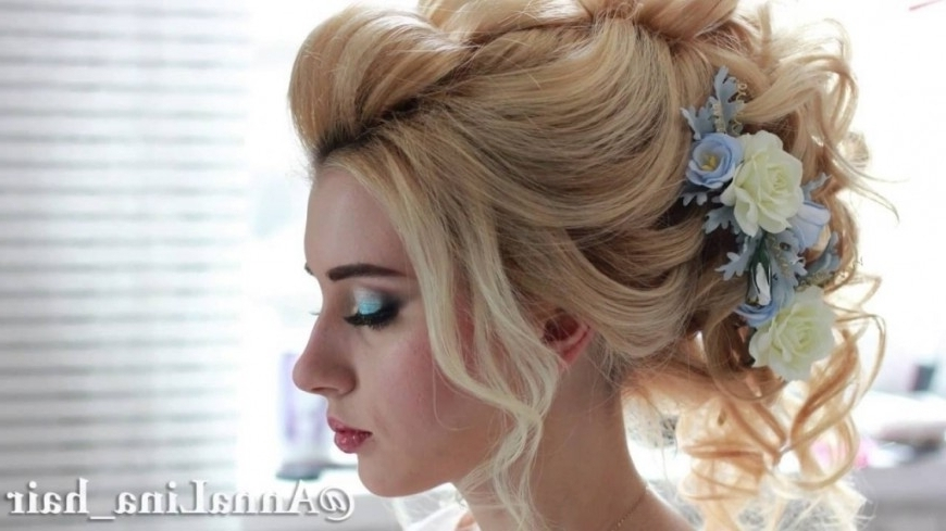 Curly Updo Wedding Hairstyles Bridal Updo Wedding Hairstyle Prom Throughout Newest Curly Long Updos For Wedding (View 4 of 15)