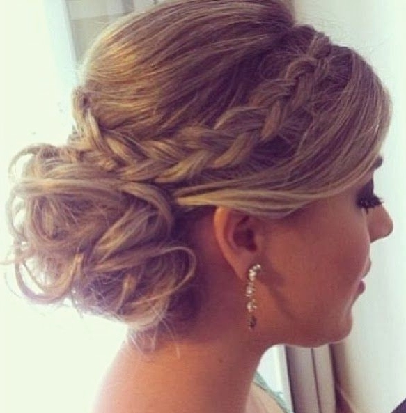 Cute Bun Hairstyles For Prom Inspirational Braided Bun Updo Inside Most Recent Cute Bun Updo Hairstyles (View 14 of 15)