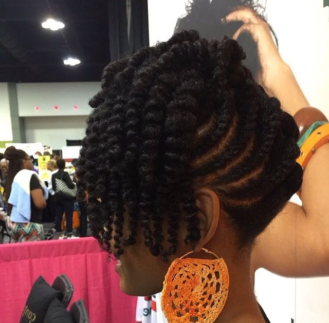 Cute Designs On Curly Hair, Ponytail Styles, With Weave, With Braids Intended For 2018 Updo Hairstyles For Natural Hair African American (View 13 of 15)