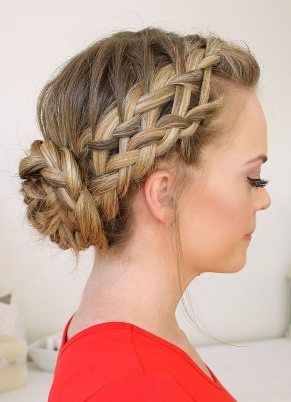 Cute & Easy Bun Hairstyles For Long Hair And Medium Hair Throughout Most Up To Date Updo Hairstyles For Long Hair (View 9 of 15)
