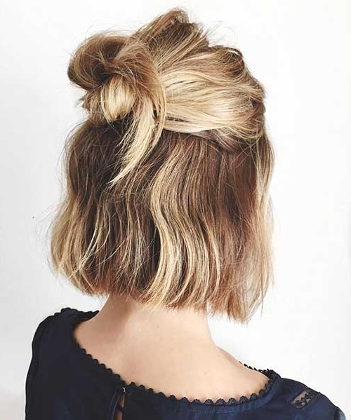 Cute Easy Hair Styles 25 Cute And Easy Hairstyles For Short Hair For Newest Cute Updos For Short Hair (View 7 of 15)