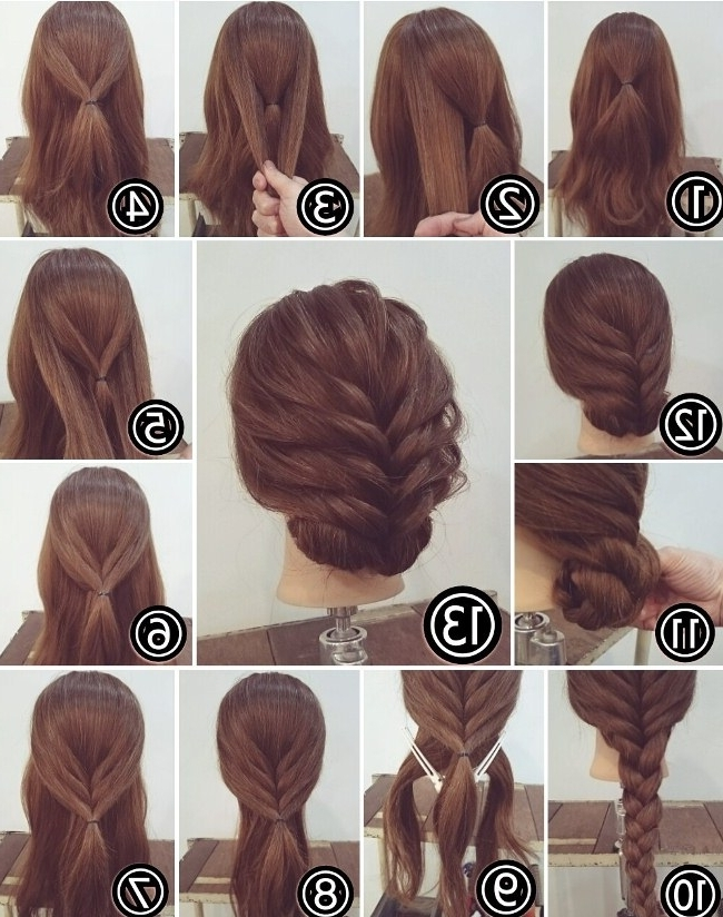 Cute Easy Updos For Long Hair How To Do It Yourself 2018 Throughout Recent Cute Easy Updos For Long Hair (View 9 of 15)