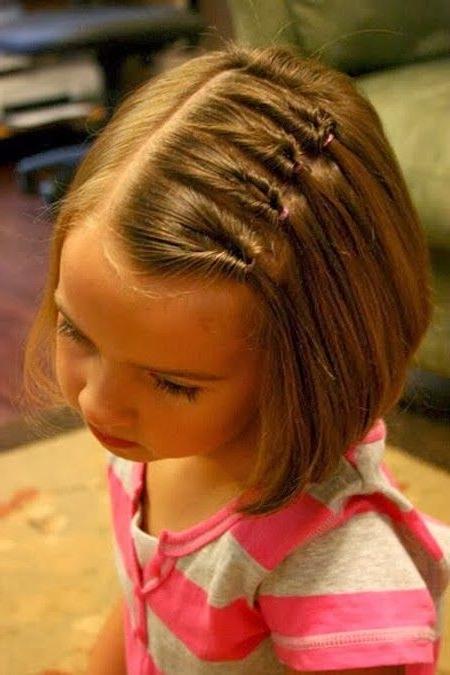 Cute Hairdos For Short Hair For Little Girls | Kid Stuff | Pinterest Intended For Most Recent Little Girl Updos For Short Hair (View 6 of 15)