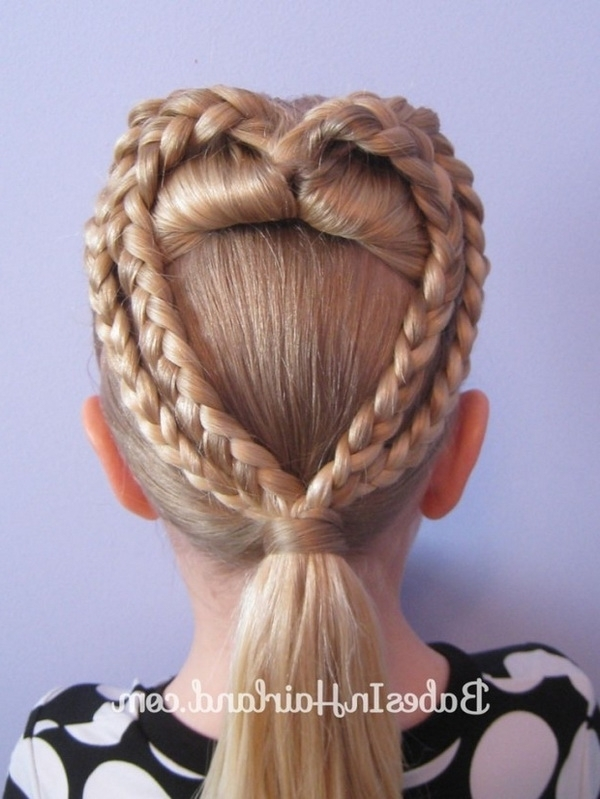 Cute Heart Braided Updo – Valentines Day Hairstyle Ideas In Current Updo Hairstyles For Little Girl With Short Hair (View 7 of 15)