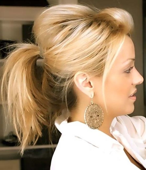 Cute Ponytails For Medium Hair | Pertaining To Most Current Ponytail Updo Hairstyles For Medium Hair (View 8 of 15)