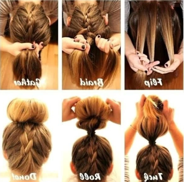 Cute Quick Updo Hairstyles For Long Hair – Easy Updos: 10 Cute And Regarding 2018 Easy Updo Hairstyles For Long Straight Hair (View 5 of 15)