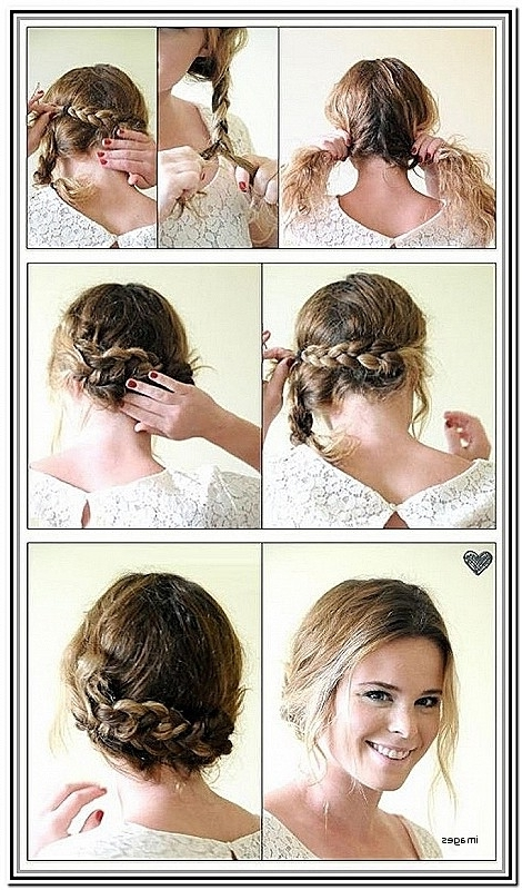 Cute Updo Hairstyles For Short Curly Hair Luxury Simple Hairstyle With Most Current Updo Hairstyles For Short Curly Hair (View 13 of 15)