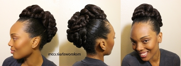 Daily Hairstyles For Hairstyles With Kanekalon Hair Easy Hairstyles Regarding Most Recent Kanekalon Hair Updo Hairstyles (Gallery 9 of 15)