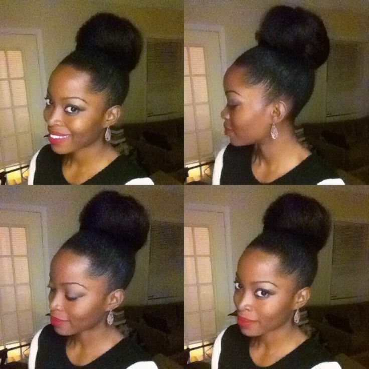 Daily Hairstyles For Natural Hairstyles With Braiding Hair Best Pertaining To Most Up To Date Natural Hair Updo Hairstyles With Kanekalon Hair (View 13 of 15)