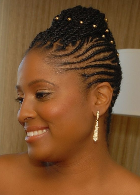 Dazzling Braided Hairstyles For Women Over 40's – Eye Catching Black Regarding Newest Cornrow Updo Hairstyles For Black Women (Gallery 15 of 15)