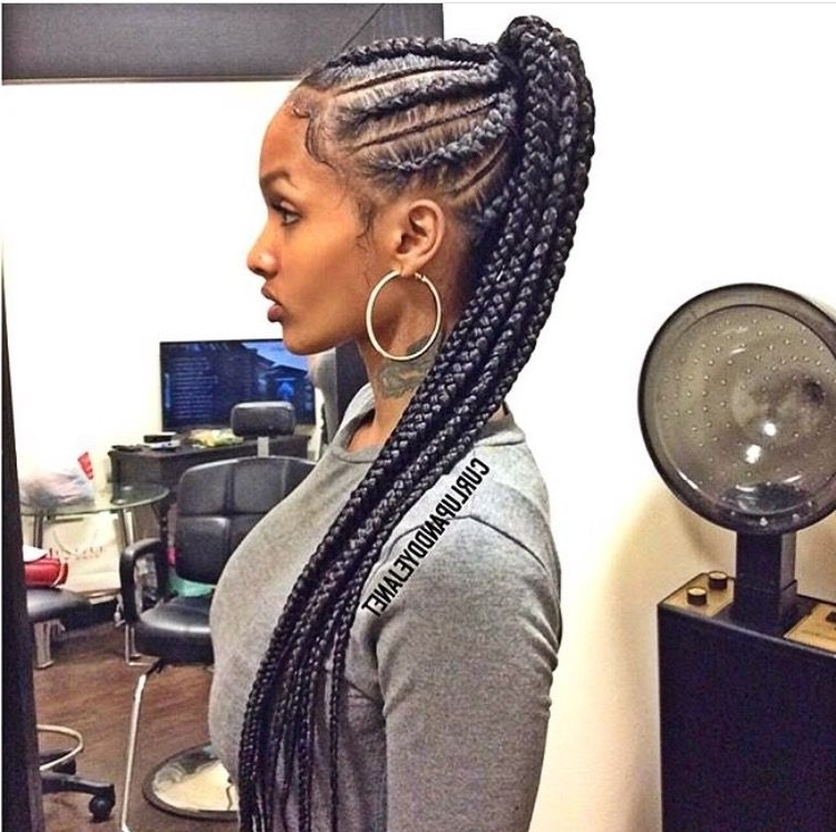 Diamond … | Pinteres… With Regard To Newest Cornrow Updo Ponytail Hairstyles (Gallery 4 of 15)