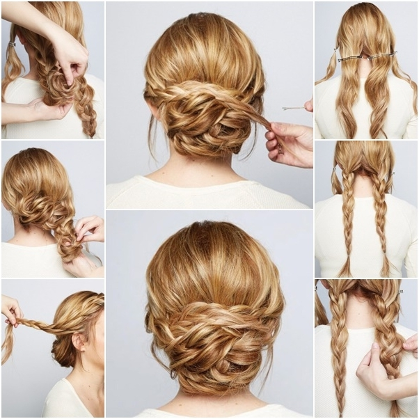 Diy Beauty – Style A Chic Braided Chignon Pertaining To 2018 Chignon Updo Hairstyles (Gallery 4 of 15)