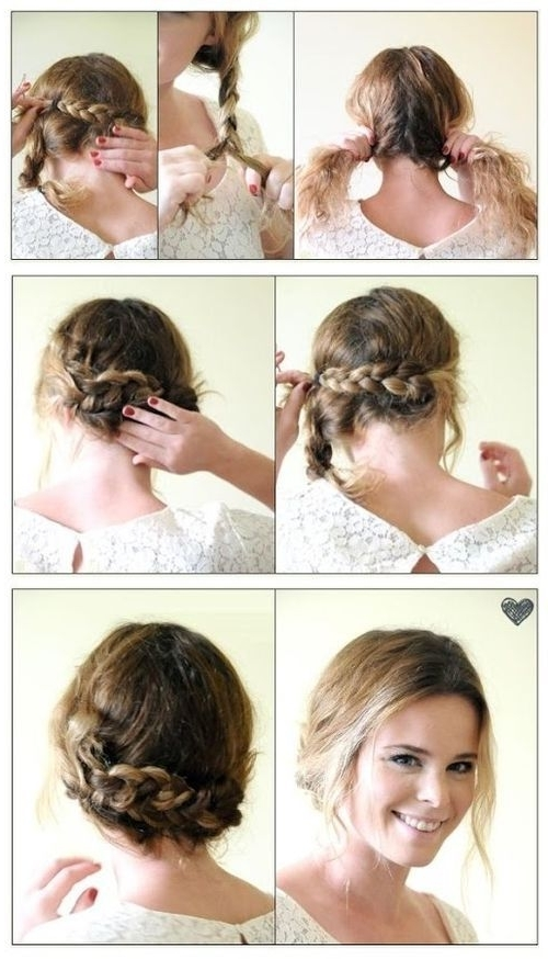 Diy Easy Braided Updo Pictures, Photos, And Images For Facebook Inside Most Up To Date Easy Braided Updo Hairstyles (View 8 of 15)