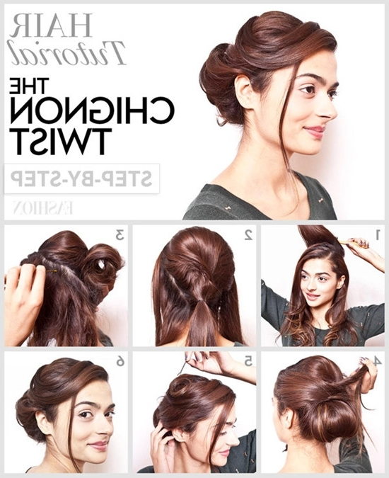 Diy Updo Hairstyles For Long Hair 2014 Prom Updos From Celebrity With Most Recent Diy Updo Hairstyles For Long Hair (Gallery 4 of 15)
