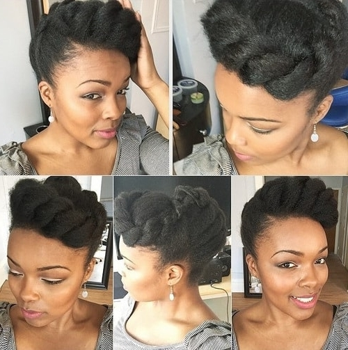 Double Twisted Updo Twist Braid Styles Regarding Current Jumbo Twist Updo Hairstyles (Gallery 13 of 15)