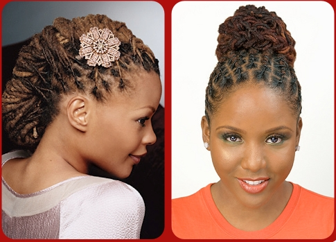 Dreadlocks Updo Regarding Most Current Updo Hairstyles For Locks (View 2 of 15)