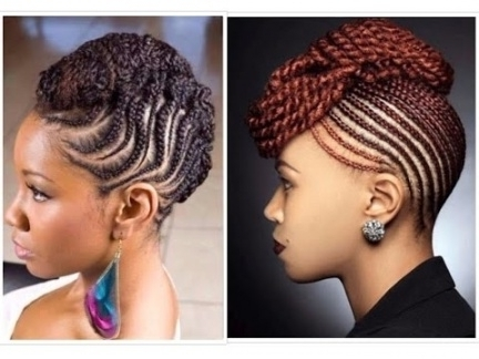 ? Natural Braided Updo Hairstyles With Regard To Most Recent Braids And Twist Updo Hairstyles (View 10 of 15)