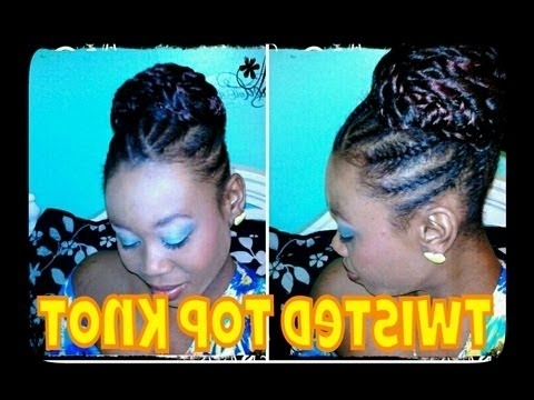 ? 51 ? Natural Hair | Twisted Top Knot Bun (Protective Style Pertaining To Best And Newest Knot Twist Updo Hairstyles (View 3 of 15)