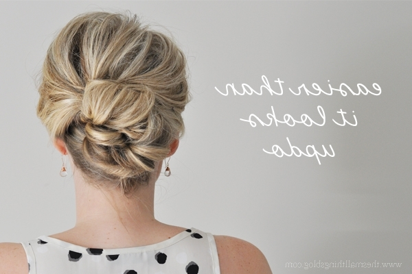 Easier Than It Looks Updo Tutorial – The Small Things Blog Inside 2018 Updos For Medium Thin Hair (View 11 of 15)