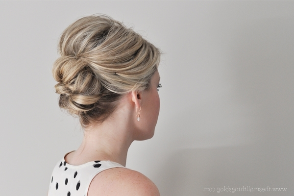 Easier Than It Looks Updo Tutorial – The Small Things Blog Within Newest Updos For Fine Short Hair (View 8 of 15)